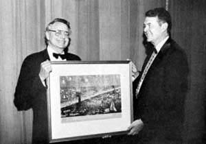 Newcomen Society presents illustration to ASCE President Wideman