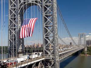 George Washington Bridge Flag