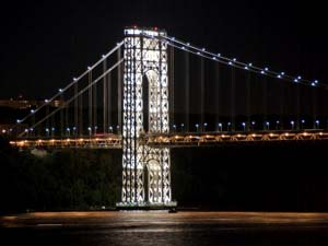 George Washington Bridge Tower Lighting