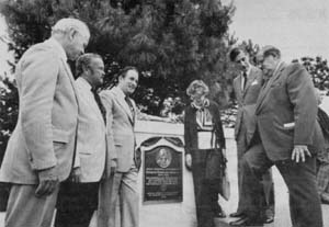 Unveiling the O.H. Ammann Plaque