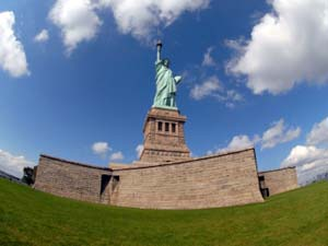 Statue of Liberty and Fort Wood