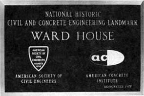 Ward House Plaque