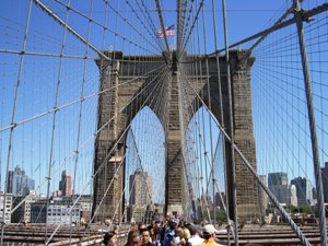 Perfect weather and the Memorial Day weekend drew huge crowds to the 125th Anniversary of the Brooklyn Bridge
